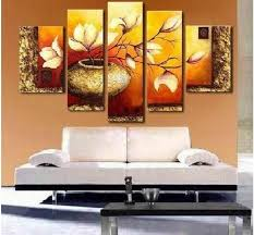 Free-shipping Modern Decorative Abstract Group Oil Painting for Office home  golden flower painting oil