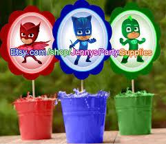 Pj Mask Party Decoration Ideas PJ Masks Centerpiece Instant DOWNLOAD PJ Masks Party PJ Masks 53