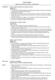 Regulatory Counsel Resume Samples Velvet Jobs