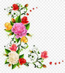 flower corner border design