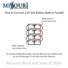 parallel wiring for battery banks missouri wind and solar 24 volt battery bank parallel wiring diagram