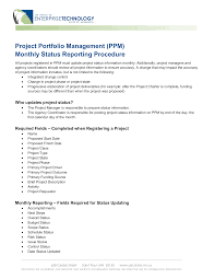 Project Management Report Templates Project Management Status Report Templates At