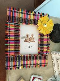 homemade crayon picture frame photo frames ideas make diy