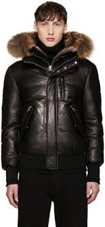 mackage black leather down glen jacket men mackage down coat hot mackage adali army usa