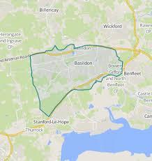 Charming Map Of Basildon, Essex