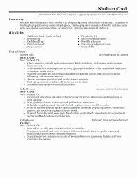 Fast Food Job Description For Resume Unique Restaurant Cashier