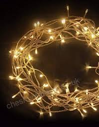 fairy lights 100 led warm white string lights 10m of clear cable low voltage mains operated