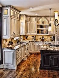 ... Lofty Idea Rustic White Kitchen Cabinets Best 25 Distressed Ideas On  Pinterest ...