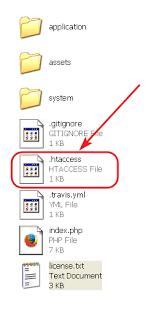 htaccess file codeigniter