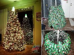 Recycled soda can Christmas tree