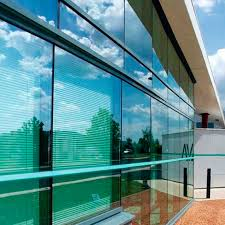aluminum and glass curtain wall glass high resistance semi
