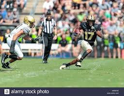 West Lafayette, Indiana, USA. 07th Sep, 2019. Purdue defensive back Byron  Perkins (17) runs with the ball after the interception during NCAA football  game action between the Vanderbilt Commodores and the Purdue