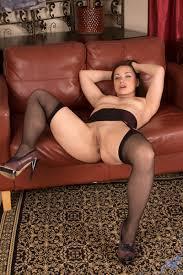 Hot Brunette Milf Spreading Naked Pussy Wide Wearing Black Stockings Sex Room Xxx