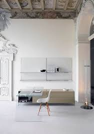 fabulous home office interior. Perceptible Monochromatic Decorating Ideas For Your Beautiful Home : Fabulous Office Scheme With Invisible Interior L