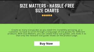 How To Create A Size Chart Best Size Chart App For Shopify Fashion Stores