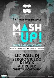 trap reggaeton flyer explosive wednesday with mash me up in pacha ibiza