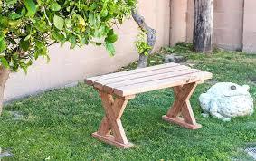 bench outdoors on the grass diy outdoor plans wooden indoor outdoor bench