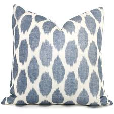 navy blue adras ikat quadrille china seas pillow cover square