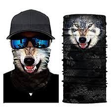 <b>3D Animal</b> Seamless Magic Neck Gaiter <b>Face Mask</b>: Amazon.in ...