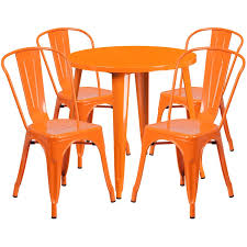 indoor outdoor table set with 4 cafe chairs to zoom