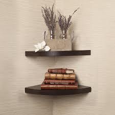 set of two corner radial shelves
