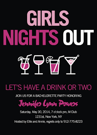 bachelorette party invite pink and black cocktail themed bachelorette party invitations