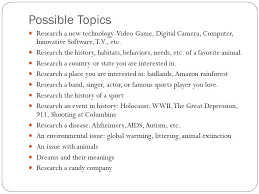 organization and expository research paper the purpose of an  possible topics research a new technology video game digital camera computer innovative