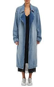 robert rodriguez women s denim trench coat