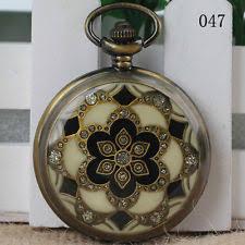 mens pocket watches antique flower retro vintage pocket watch necklace pendant chain quartz men gift