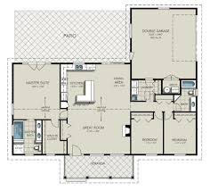 ranch style floor plans. Ranch Style Plan 427-6 Main Floor Plans