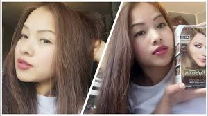 Dying Black Hair To Light Ash Brown How To Dye Asian Hair Black Hair To Ash Brown Loreal Ul61 2016