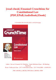 Read Ebook Emanuel Crunchtime For Constitutional Law Pdf