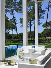 Portuguese Building With Double Height Portico Overlooking a Golf ...