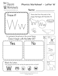 Live worksheets > english > phonics > sounds. Free Letter W Phonics Worksheet For Preschool Beginning Sounds