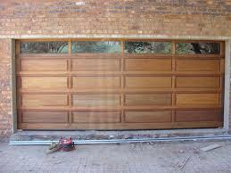 20 panel double with glass top panel double wooden garage doors