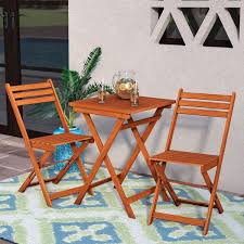 Mistana™ Altenwald Eucalyptus <b>3 Piece Folding</b> Dining Set ...