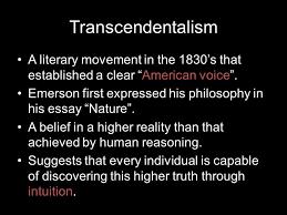 american transcendentalism ppt  2 transcendentalism