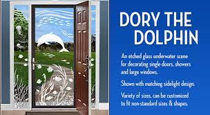 dory the dolphin etched glass underwater scene