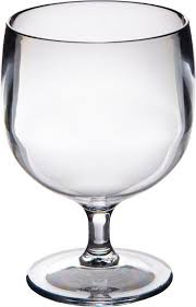 set of 6 stacking polycarbonate wine glasses