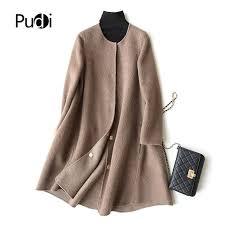 pudi a37049 real wool coat jacket overcoat womens winter warm coat 2018 fall winter coat