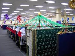 Office Cubicle Christmas Decorating Color  Room Decor a