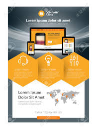 business flyer design templates vector business flyer design template for mobile application