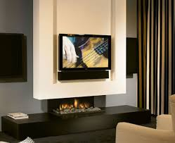 Small Picture Minimalist Fireplace Design With Tv Set Minimalist Fireplace Tv
