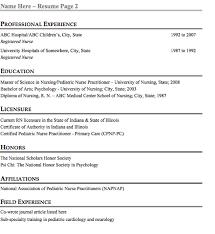 Pediatric Nurse Resume Objective Http Www Resumecareer Info