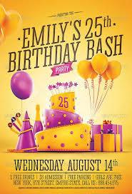 invitation flyer birthday party invitation flyer template