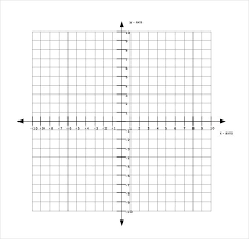 Coordinate Plane Graph Paper Template Graphing Free Documents
