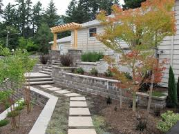 backyard retaining wall designs. Portland Landscaping Retaining Wall Design Backyard Designs G