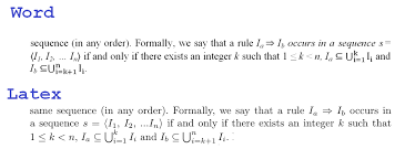 here we can see that mathematical symbols are more beautiful using latex for example the set union and the subset inclusion operators are in my opinion