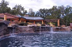 inground pools with waterfalls. Inground Pool Waterfall Pergola Washington DC Pools With Waterfalls L