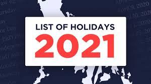 list philippine holidays for 2021